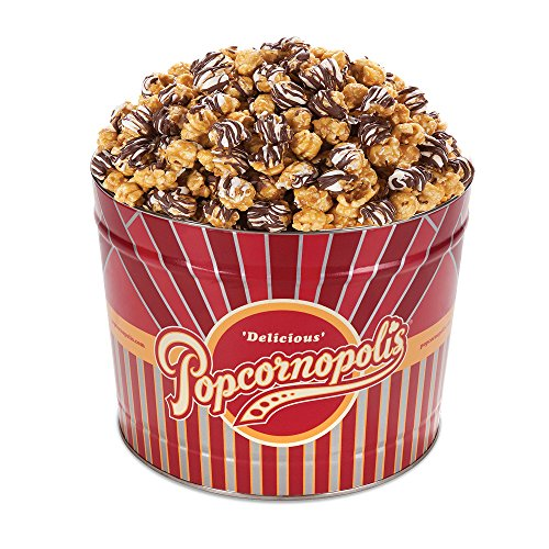 Popcornopolis Gourmet Popcorn 1.26 Gallon Tin (Zebra)