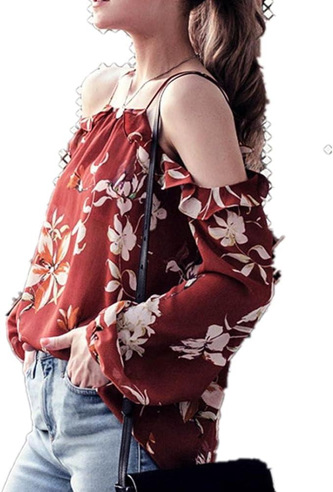 Kolylong Sweatshirt Damen Frauen Elegant Tragerlos Drucken Blusen Festlich Schulterfrei Oberteile Blumenmuster Vintage Langarmshirt Mode Hemd Cut Out Shirt T Shirt Tunika Tops S Xxxl Amazon De Bekleidung