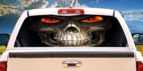 Truck Stickers For Back Window >> Signmission Reaper Rear Window Graphic Back Truck Decal Suv View Thru Vinyl