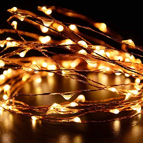 LUXJET® LED String Lights, 50 Led 5M Copper Wire Fairy Lights,8 Mode Lighting with Remote Control,battery powered Light string for Wedding, Dancing, Bedroom,Christmas Party Decoration(2 Pack)