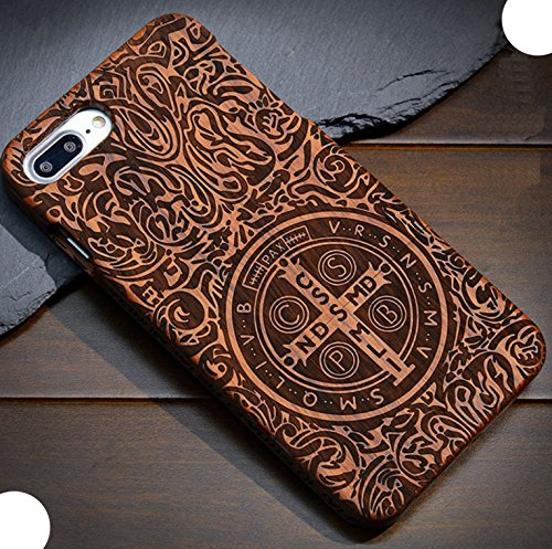 iPhone5S SE Wooden Case, Very Light Slim CSPB CSSML NDSMD VRS NSMV SMQL IVB Catholicism Constantine Manual Wood Cover, WEIFA 2 in 1 Cellphone Case for Apple iPhone 5 SE
