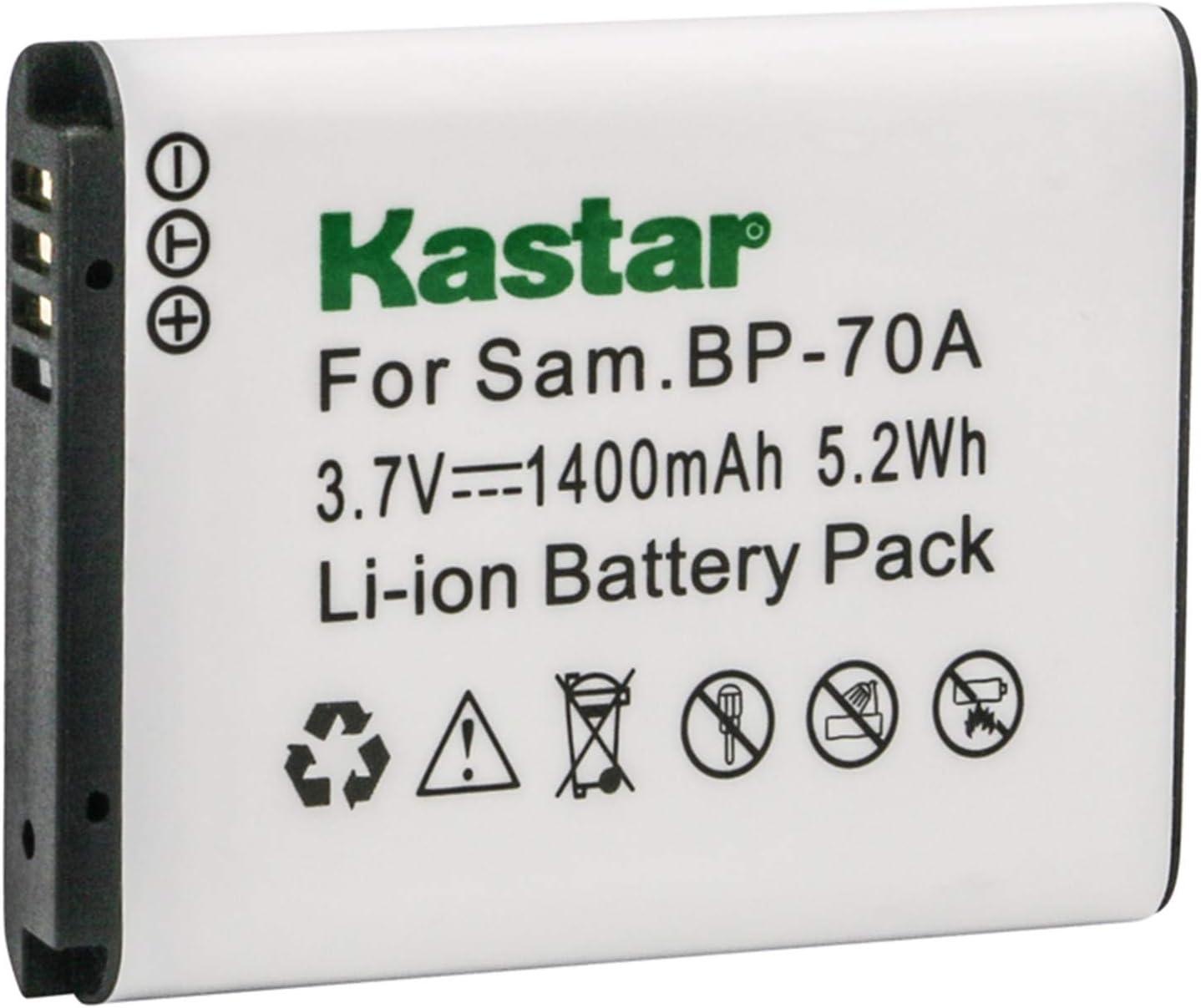 BP-70A Batería para Samsung PL100//PL120//PL170//PL20//PL200//ST6500 AQ100//Cargador