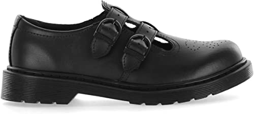 Dr Martens 8065 Y Two Strap 22444001 Black Leather Girls School Shoes