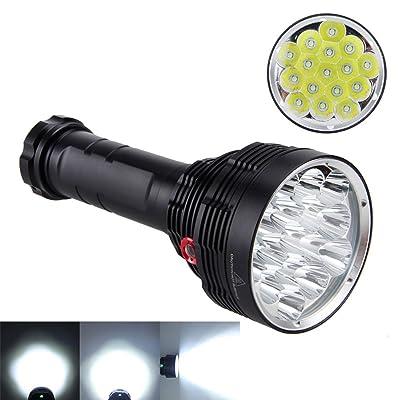 10principales LED Lampe torche tactique, 16000Lumen 16x T63modes Super Bright Lampe de poche lampe de camping pour la pêche chasse randonnée et activités de plein air
