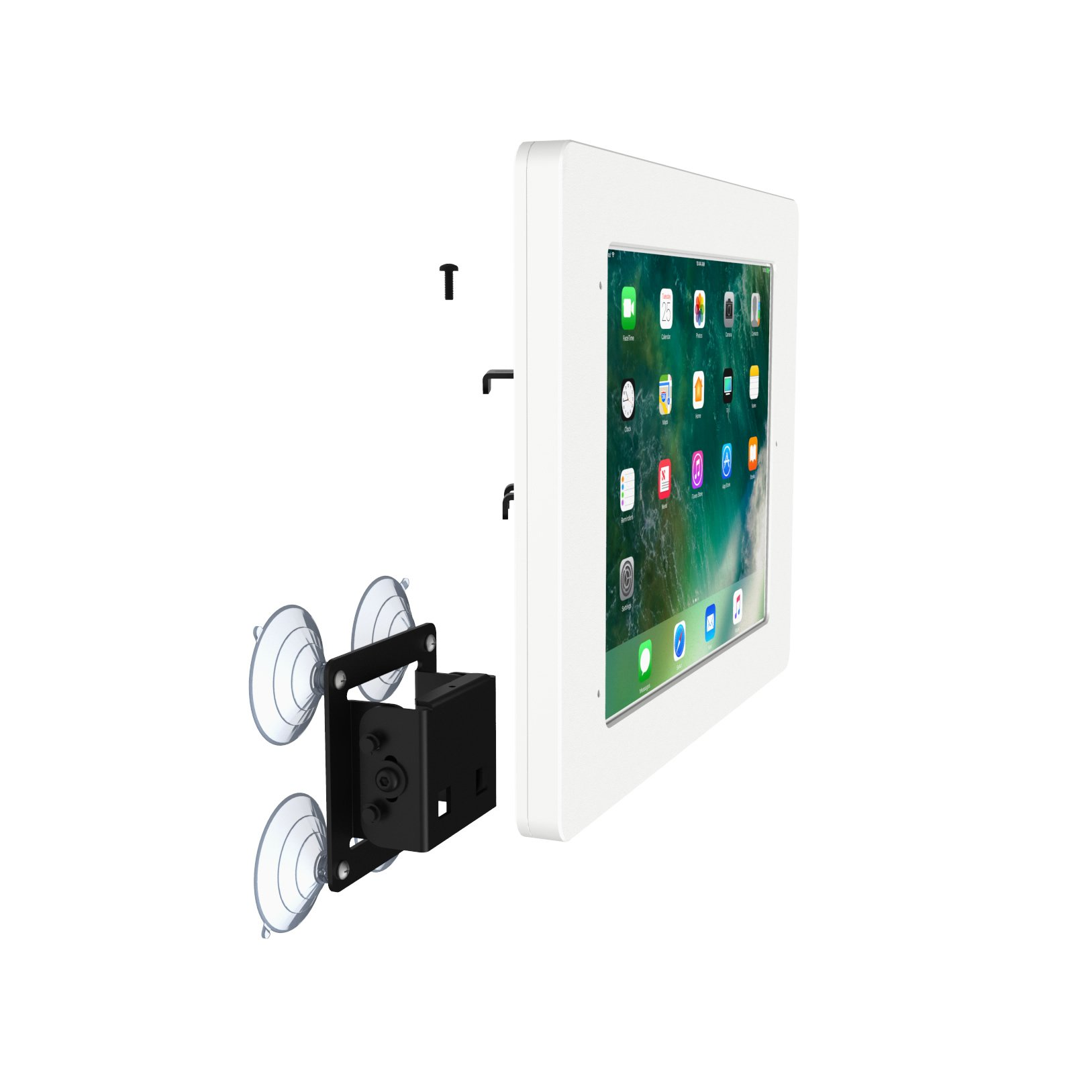 iPad Pro 10.5'' White Home Button Covered Tilting Removable Glass Mount [Bundle] by VidaMount (Image #9)