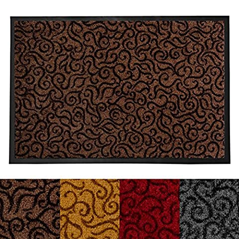 casa pura Design Door Mat | Entrance Mat for Home and Business | Indoor and Outdoor Entry Rug | Brown | 24