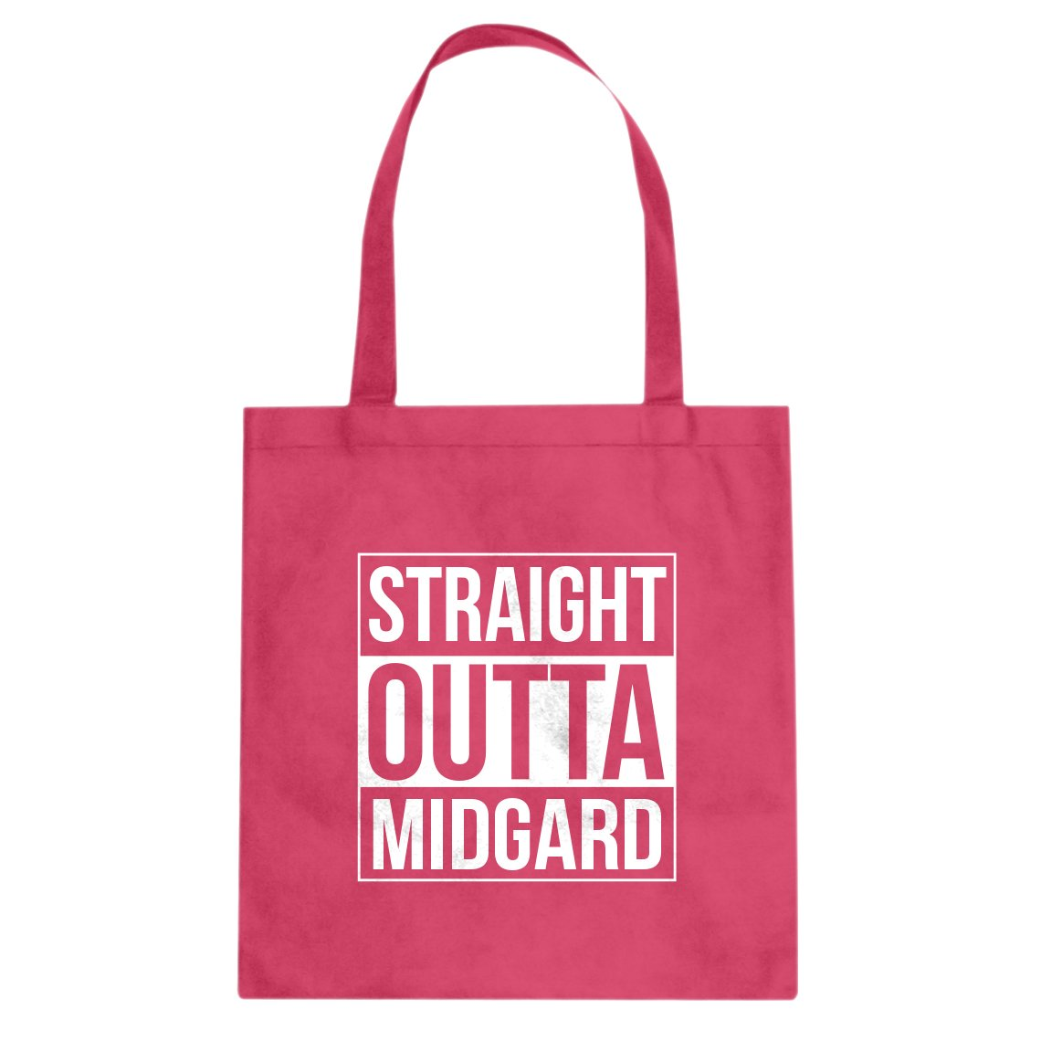 Indica Plateau Straight Outta Midgard Cotton Canvas Tote Bag
