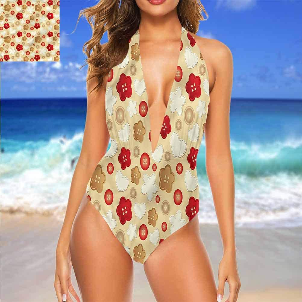 Vêtements de plage pour fille beige, effet mosaïque antique pour vous faire sentir confortable/confiante Multi 26.