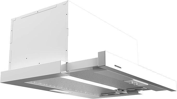 IN Campana EXTRACCION ENCASTRABLE INFINITON Ancho 60 CM (350m³/HC de extraccion, Telescopica, Luces LED, 3 Niveles de Potencia) (BLANCA-61B): Amazon.es: Hogar