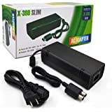Power Supply for Xbox 360 Slim,Lyyes AC Adapter Power Supply Cord Replacement Charger for Xbox 360 Slim Console (Black)