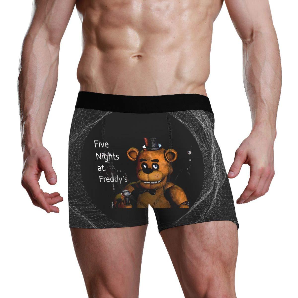 LixuA Big Boys Five-Nights-at-Freddys Cotton Underwear Stretch Trunks Boxer Briefs
