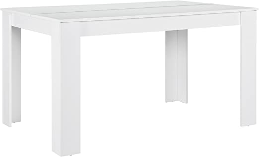 en.casa]®] Mesa Elegante de Comedor para 6 sillas - Blanca ...