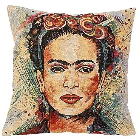 pad Funda de cojín Frida Kahlo en Medida 45 x 45 cm: Amazon ...
