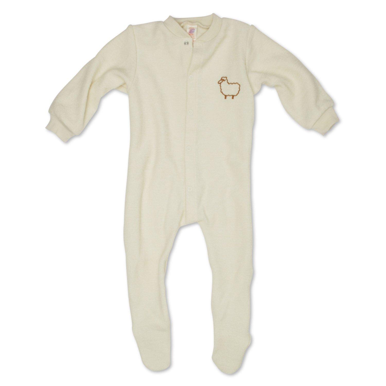 Engel Natur - Pijama de una pieza con á ngel de color tejido de lana virgen bio naturaleza 6-9 meses (74 cm) kb505710