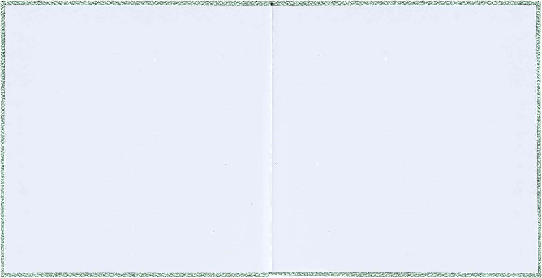 Konfirmation Geburtstag 104 Seiten blanko wei/ß Hardcover 21x21cm Kommunion Premium Buchbinder-Leinen mit Pr/ägung f/ür Hochzeit Mint-Gr/ün//Gold DeinWeddingshop G/ästebuch Taufe