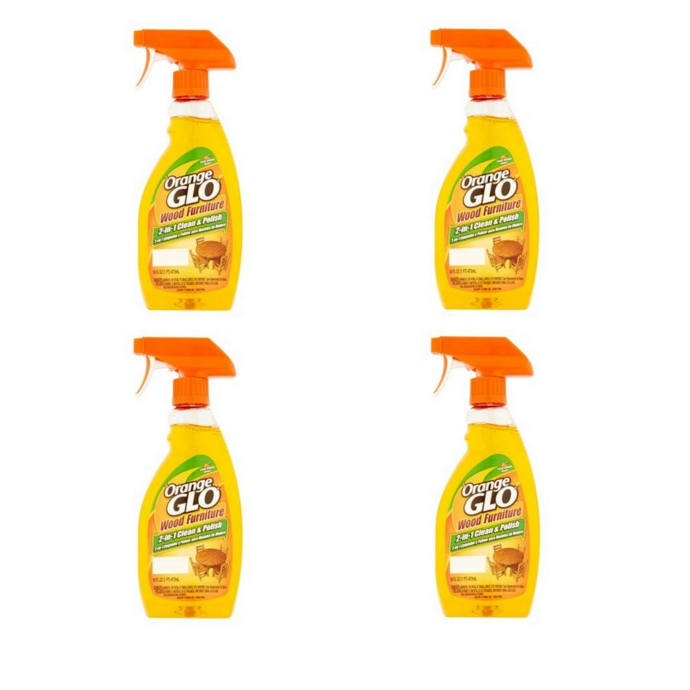 Orange Glo 2-in-1 Clean & Polish Wood Furniture Spray - 16 oz - 4 pk