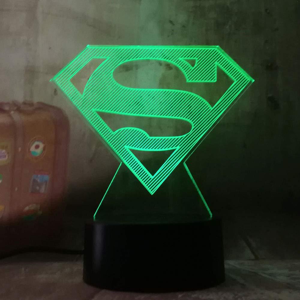 Led Table Lamps New 2019 Justice League 3d Led Dc Batman Symbol Light Night Desk Table Lamp 7 Color Change Usb Rgb Controler Toy Kids Gift