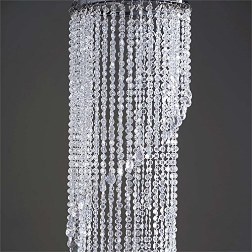 BalsaCircle 72-Inch tall Spiral Faux Crystal Beaded Chandelier Pendant with Stand - Home Party Wedding Centerpiece Decorations Riser