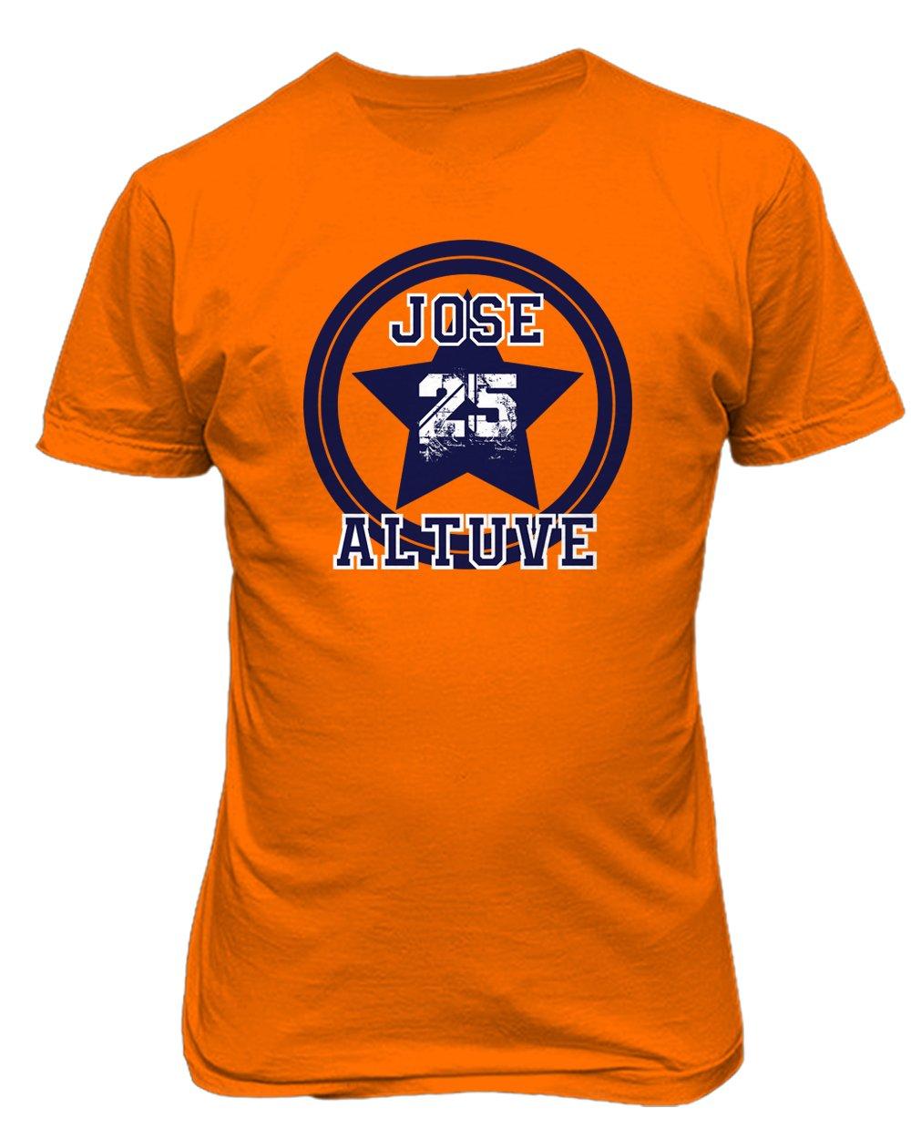 JoseホセアルトゥーベHoustonロゴメンズTシャツ Adult XXXX-Large オレンジ B076JHFTVH