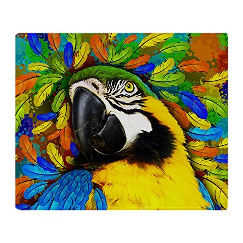 CafePress - Gold And Blue Macaw Parrot Fantasy - Soft Fleece Throw Blanket, 50