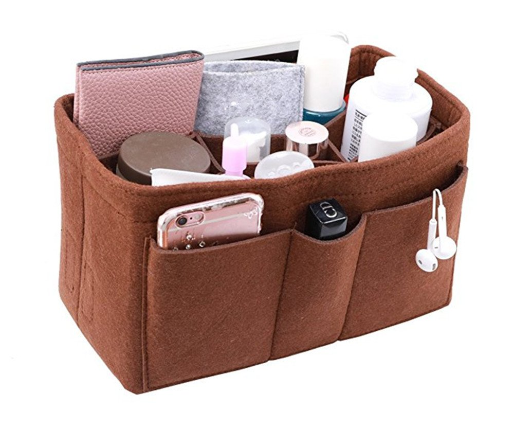 2c2f87be01cf Amazon.com: Felt Insert Bag Organizer Bag In Bag For Handbag Purse Organizer,  13 Pockets: Beauty