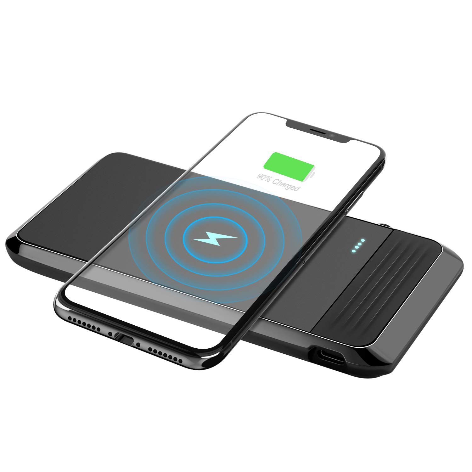Power Bank Wireless Charger AIRGINE 3 in1 Portable Phone Charger for Smart Phone, Android Phone, Tablet and More (AC Adapter+USB Cable Included)