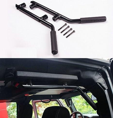 u-Box Rear Grab Handle Grip Bar Solid Steel in Red for Jeep Wrangler JK Unlimited 4-Door