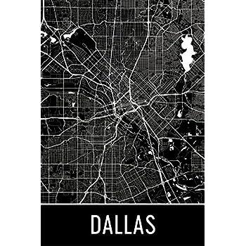 Amazon Com Dallas Print Dallas Art Dallas Map Dallas Texas