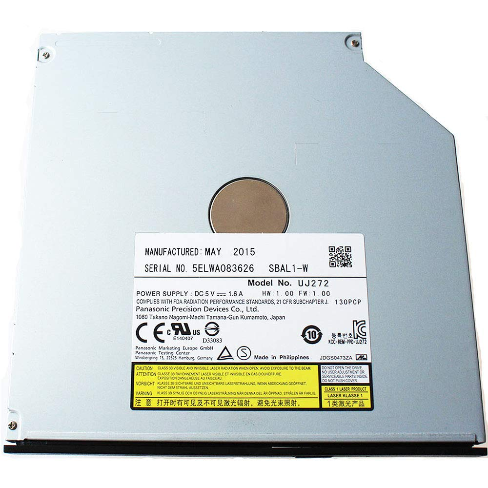 Panasonic UJ-272(Latest Model) SATA 3D Blu-ray Burner Ultra Slim Internal BD RW Optical Drive/9.5mm/Blu-Ray Drive