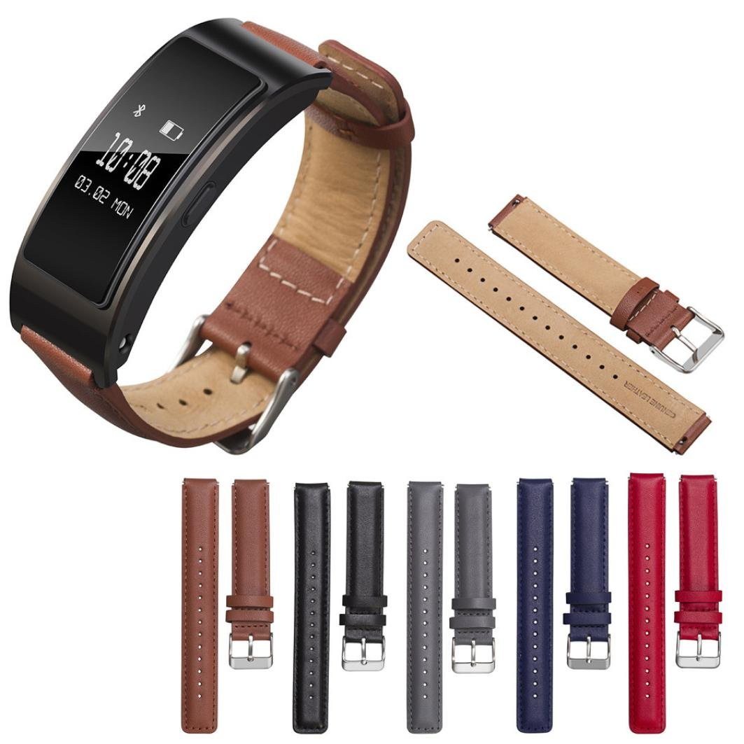 Piel auténtica accesorio banda pulsera correa de reloj para Huawei ...