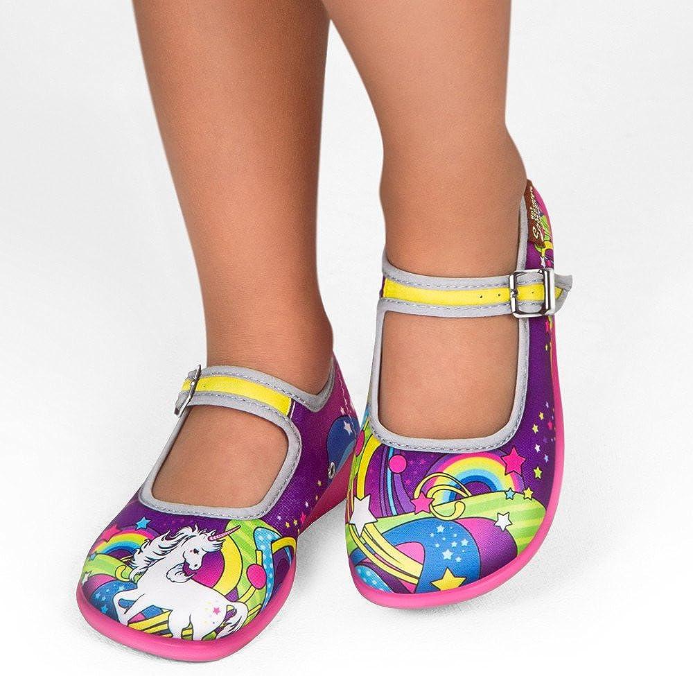 Hot Chocolate Design Mini Chocolaticas Canvas Ballerinas Girls Mary Jane Flat Shoes