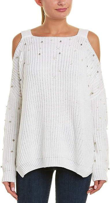 6340acabcdd07b ELAN Womens Cold-Shoulder Sleeve Sweater