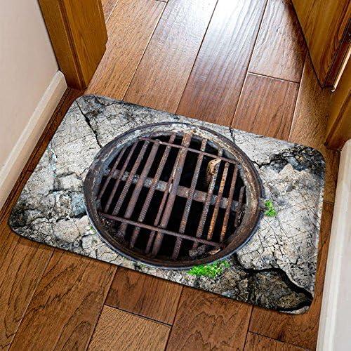 Alfombra de suelo 3D, alfombra de suelo para interiores y exteriores, lavable, para jardín, oficina, cocina, comedor, salón, baño, entrada de alfombras con respaldo antideslizante: Amazon.es: Jardín