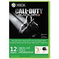 Xbox LIVE Gold 12-Month Membership Card with 1 Bonus Month - Call of Duty : Black Ops II Branded (Xbox 360)
