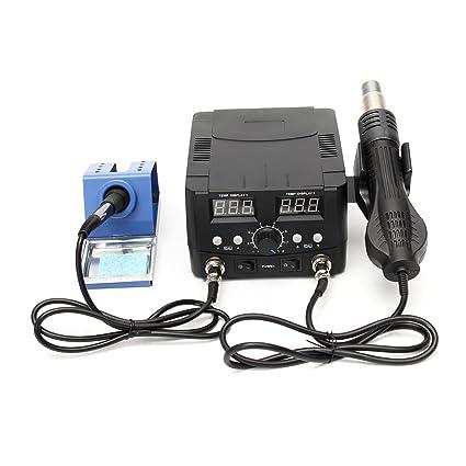 Werse 110V 2 en 1 de soldador desoldar retrabajo estación de soldadura LCD calentador de aire