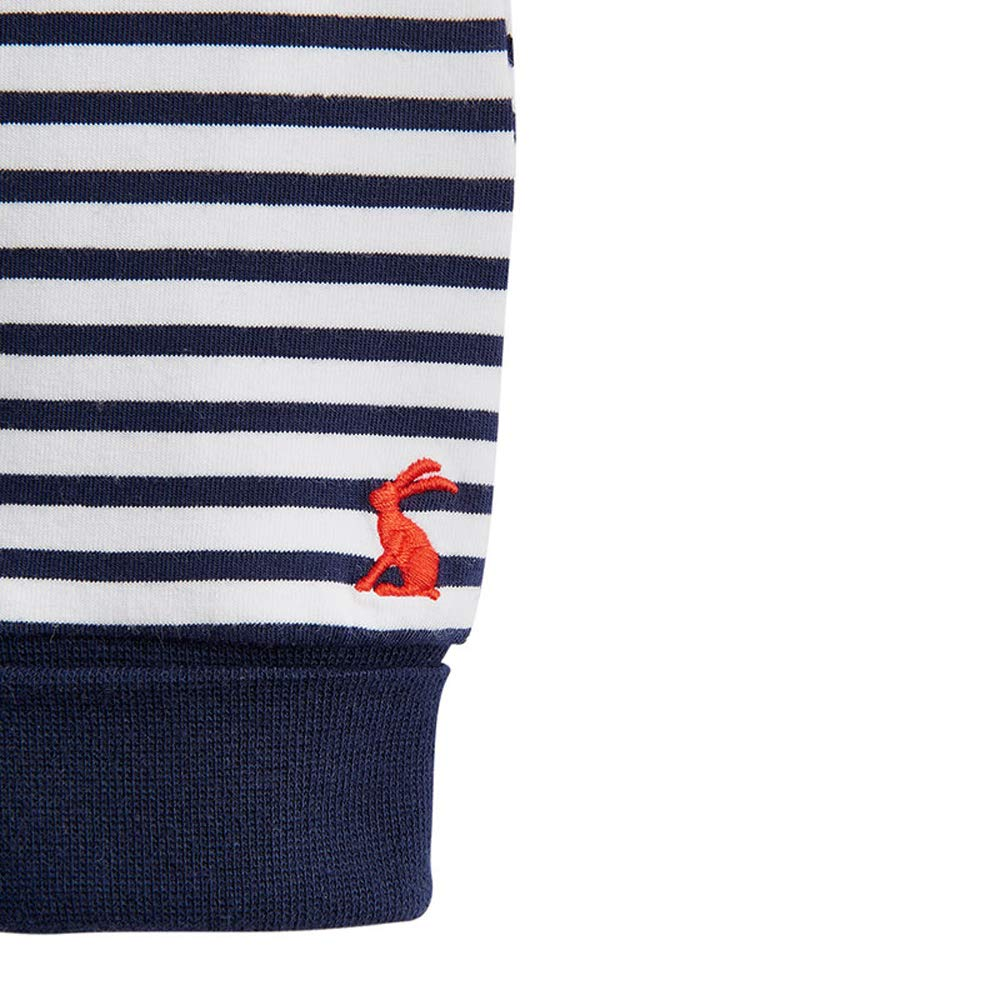 Joules Baby Byron Jersey Applique /& Trouser Set White Stripe Transport Animals
