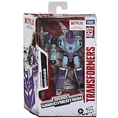 Transformers Netflix War for Cybertron Trilogy Deluxe Class Decepticon Mirage: Toys & Games