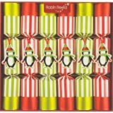 Robin Reed 6 pc Racing Penguin Christmas Crackers 702