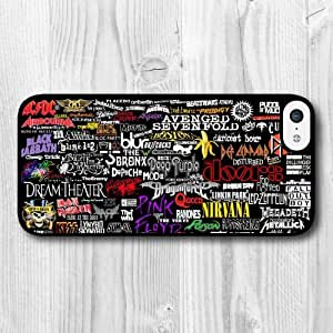 For iPhone 5C Case,Fashion Design Rock Bands Pattern Protective Hard Phone Cover Skin Case For iPhone 5C +Screen Protector