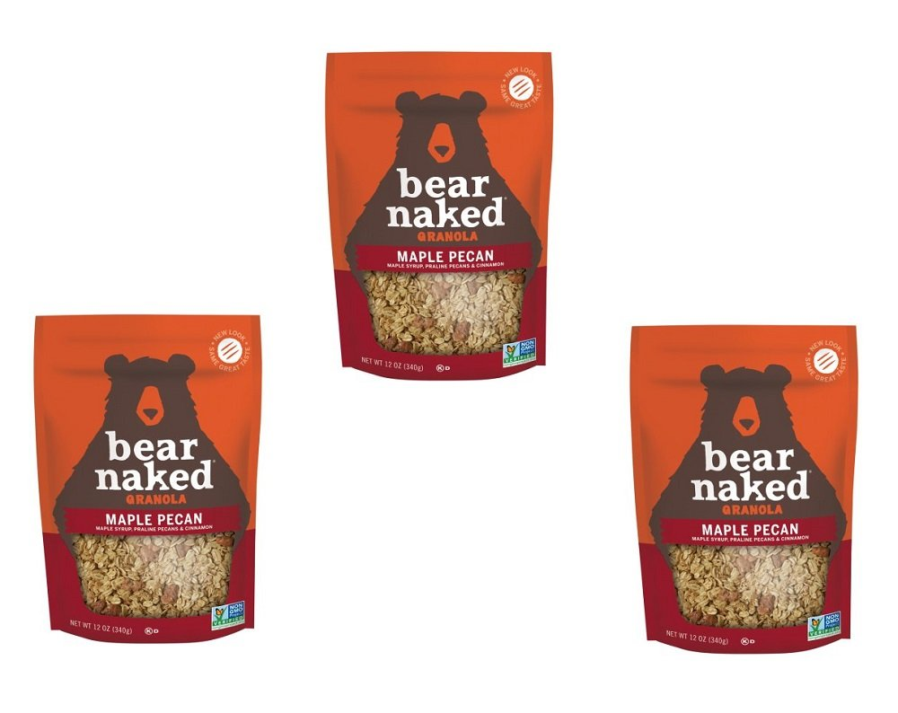 Bear Naked 100% Pure & Natural Maple Pecan Granola Cereal, 12 oz (PACK OF 3)