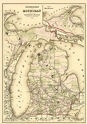 Michigan Antique Map - 7