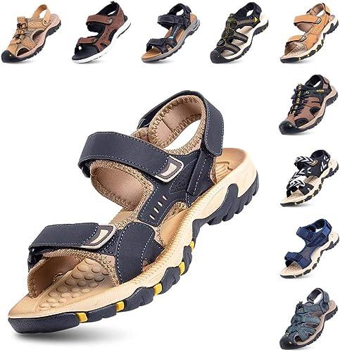 Herren Schuhe Sportsandalen Wandern Trekking Riemen Rutschfest Open Toe Strand D