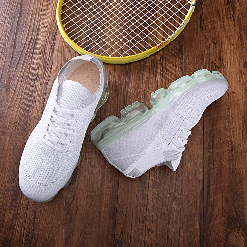 JINMAO 2018 Air Sneakers Men's Women's Sports Shoes Travel Running Shoes (US_8/cm_255/EUR_41, White) by JINMAO (Image #3)
