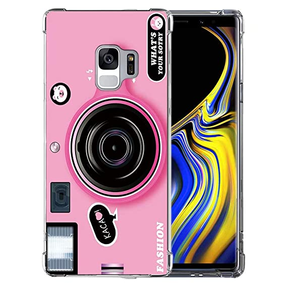 the latest e99bd 81cdf Amazon.com: for Galaxy S9 Pink Retro Camera Case, QKKE 3D Cool ...