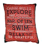Heart of America Cabin Rules Two Sided Pillow