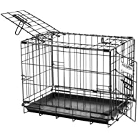 Petmate ProValu Wire Dog Crate, Two Doors, Precision Lock System, 6 Sizes