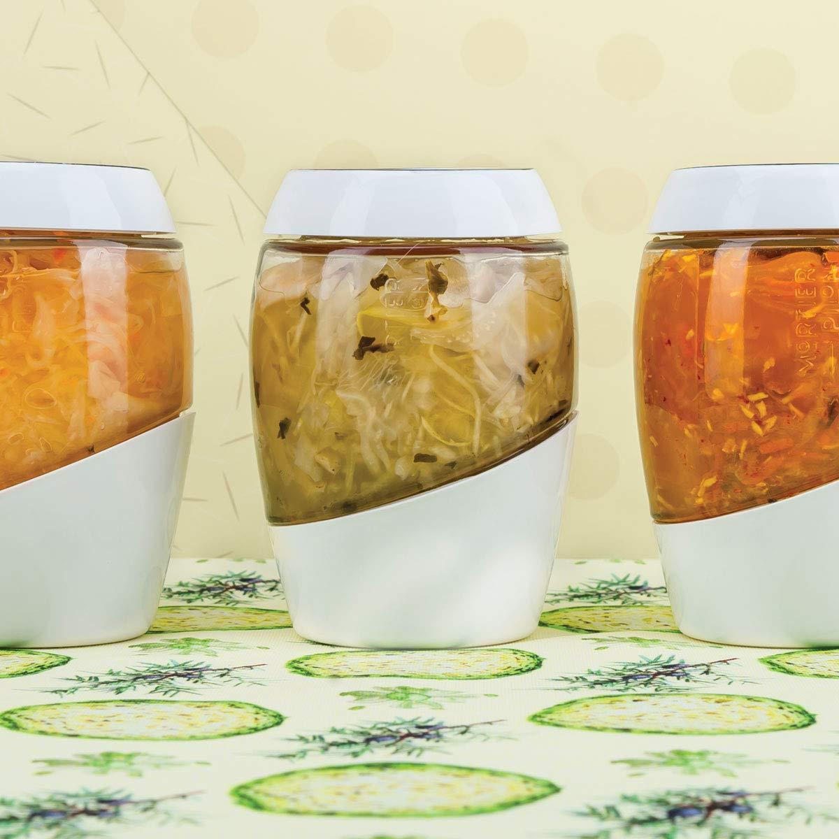 Free Recetas Libro Perfecto para Hacer Alimentos sanos fermentados en casa 5L Tarro de fermentaci/ón con Pesos de cer/ámica Mortier Pilon 5L Fermentation Crock