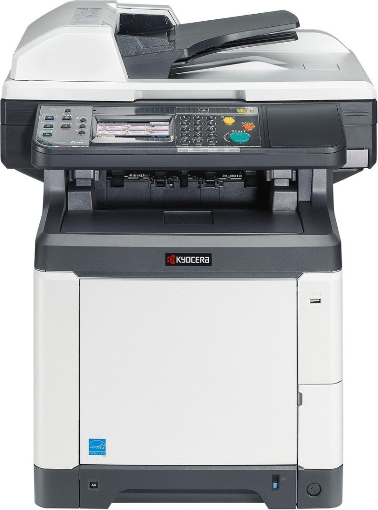 Kyocera 1102PX2US0 ECOSYS M6026cidn Color Multifunctional Printer; 4.3″ Color Touch Screen Control Panel; Fast Output Speed of 28 Pages per Minute in Black and Color; Standard Color Print, Copy and Sc