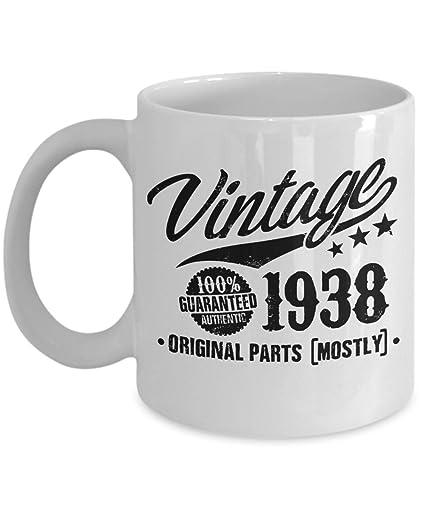 Amazon 80th Birthday Gift Vintage 1938 Coffee Mug 11oz