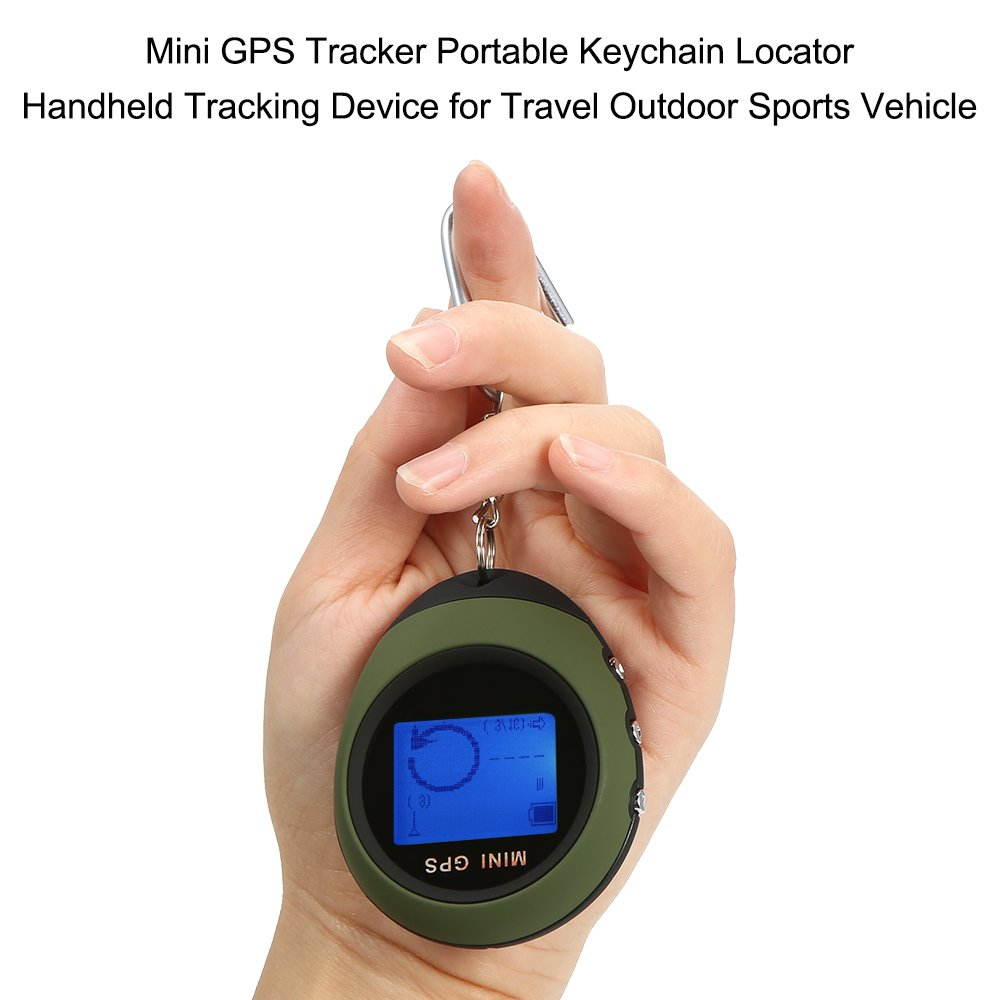 Walmeck Mini GPS Tracker Portable Keychain Locator Handheld Tracking Device for Travel Vehicle Outdoor Sports by Walmeck (Image #7)